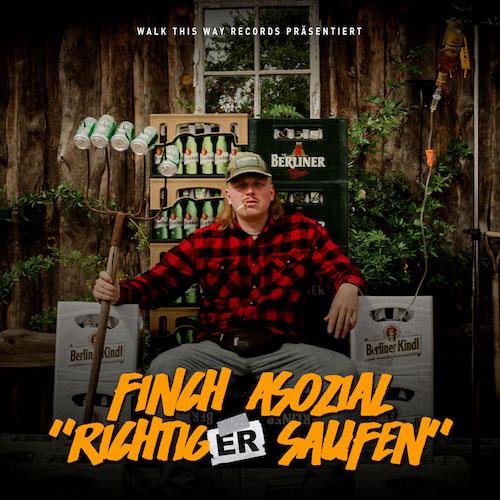 01-FinchAsozial-Single-RichtigerSaufen-Cover